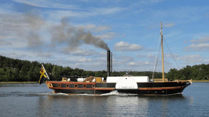Hjulångaren Erik Nordevall II på besök i Gränna