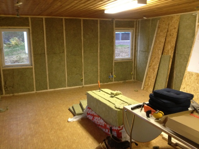 En liten rapport om dagens arbete i klubbstugan, 2012-11-10