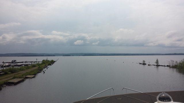 Ut på sjön Viken.